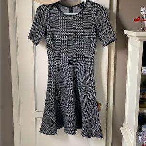 Black and Grey Skirt Dress